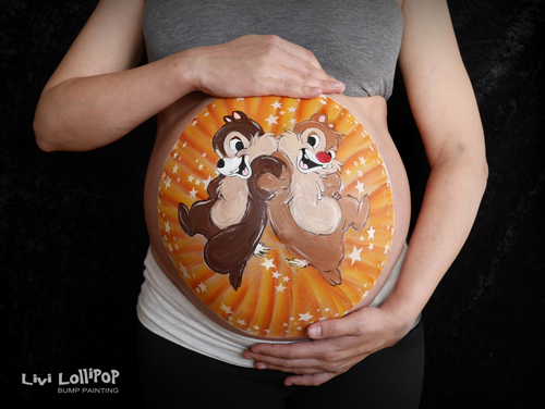 blog pregnancy bump painting
