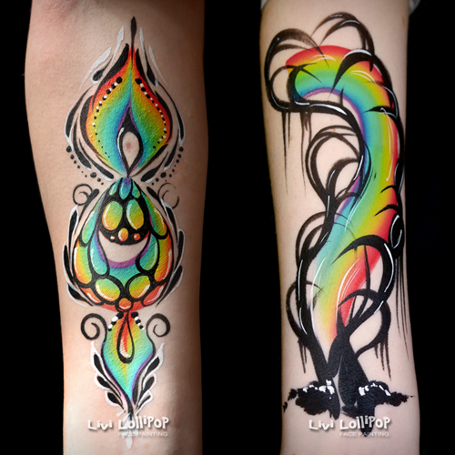 rainbow arm art fb twitter