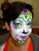 Completed one stroke sugar skull - would've loved to do more detail but time was limited!