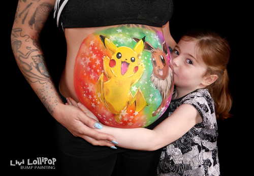 blog pokemon pikachu pregnancy bump painting 5