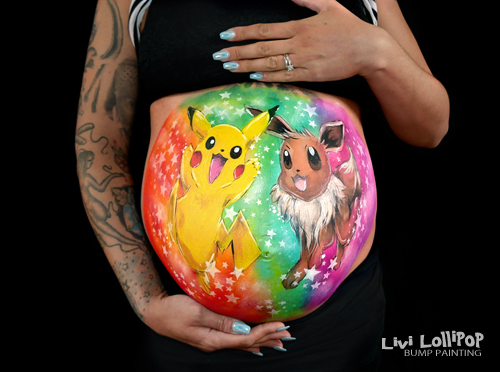blog pokemon pikachu pregnancy bump painting 7