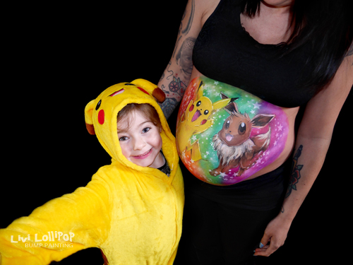 twitter blog pokemon pikachu pregnancy bump painting 1