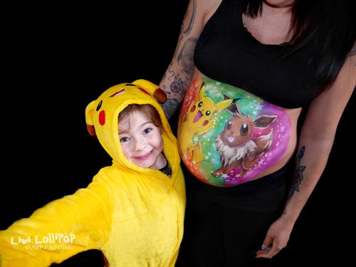 twitter blog pokemon pikachu pregnancy bump painting 1