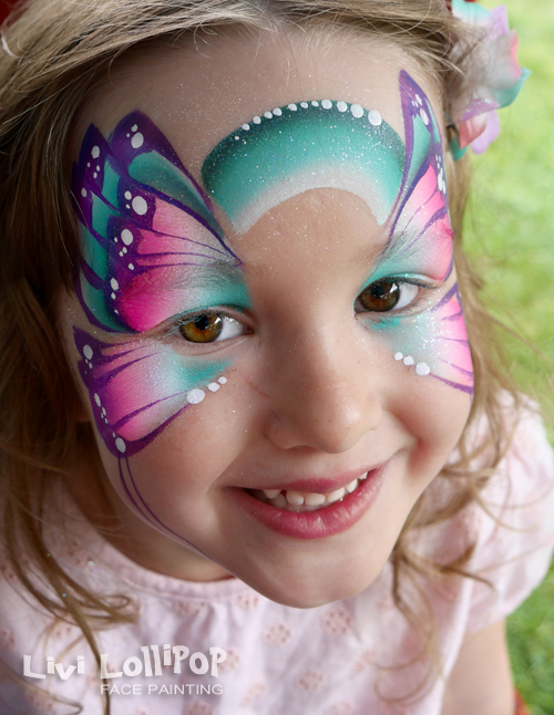 blog butterfly face painting whetstone leicester