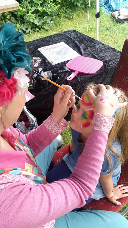rainbow butterfly face painting leicester 2