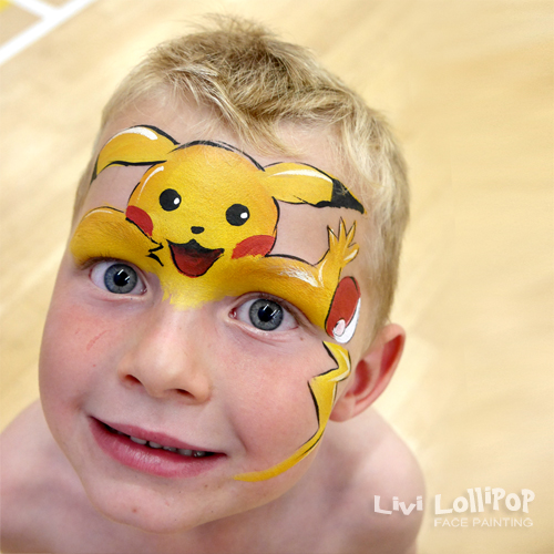 Face paint face painting leicester to london at so enjoyed doing this pokemon pikachu design recently at a sweaty party on the hottest day of the year so far this is a simplified version of olga solutioingenieria Image collections