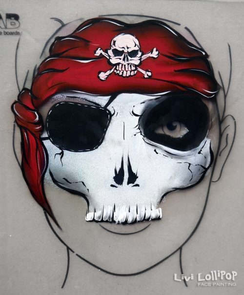 face painting pirate fb